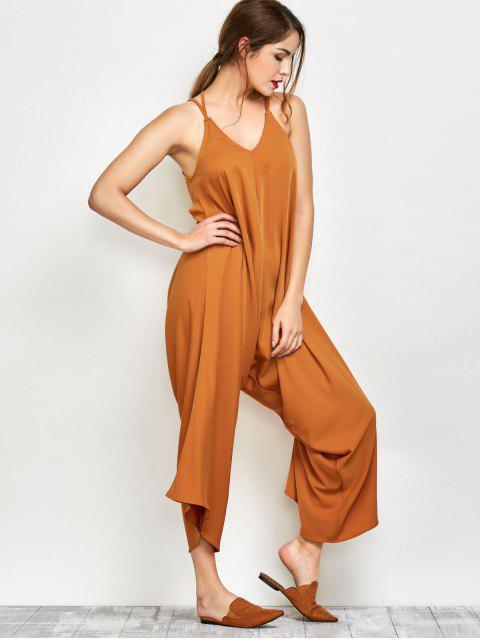 hot Crosscriss Asymmetric Chiffon Jumpsuit - GINGER M Mobile