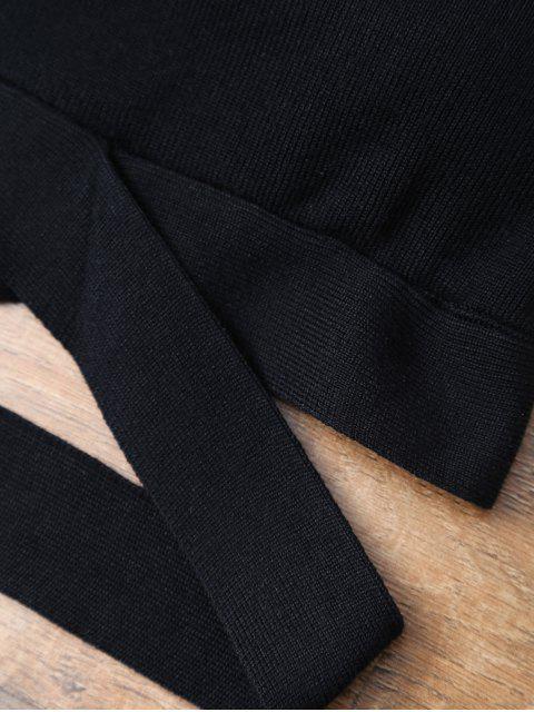 outfits Banded High Neck Bikini - BLACK L Mobile