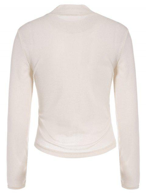 new See-Through Cropped T-Shirt - APRICOT 2XL Mobile