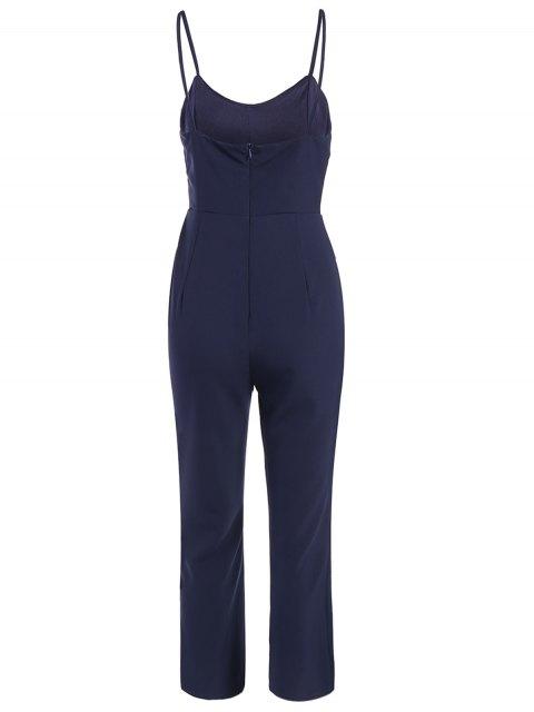 lady Cami Cut Out Cropped Jumpsuit - CADETBLUE L Mobile