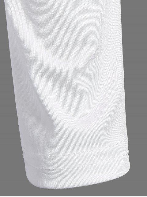 outfit Alien Print Long Sleeve Bodysuit - WHITE S Mobile