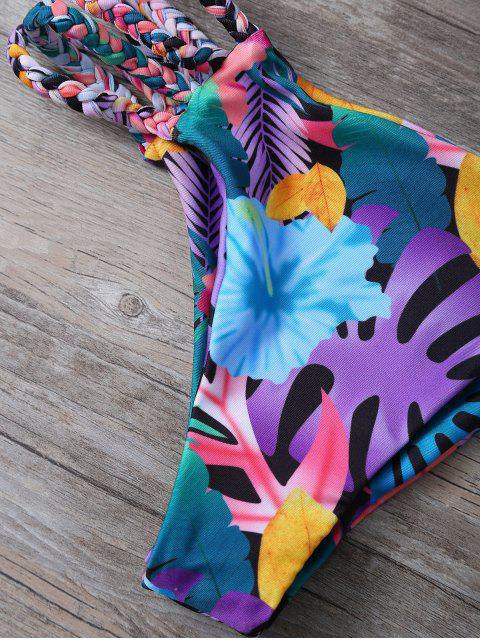 best Cutout Floral Bikini Set - COLORMIX M Mobile