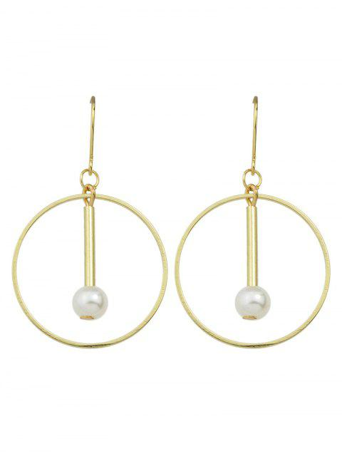 latest Faux Pearl Circle Drop Earrings -   Mobile