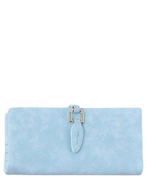 outfit Metal Embellished Bi Fold Clutch Wallet - BLUE  Mobile