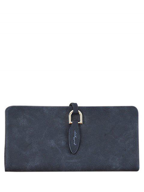 shop Metal Embellished Bi Fold Clutch Wallet - BLACK  Mobile