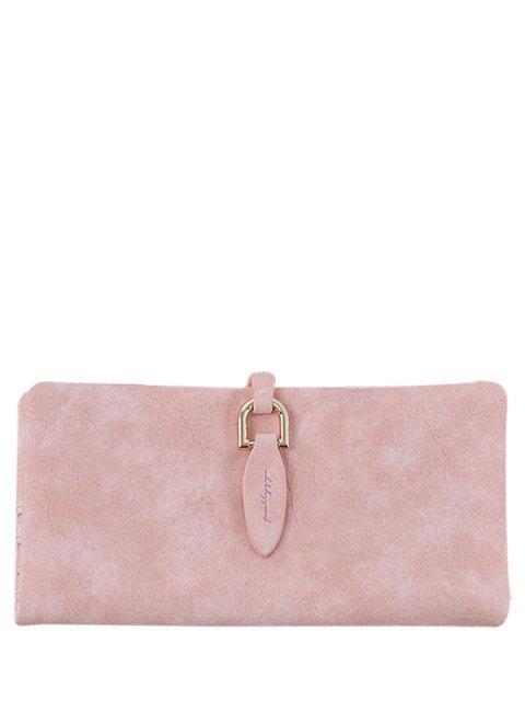 latest Metal Embellished Bi Fold Clutch Wallet - PINK  Mobile