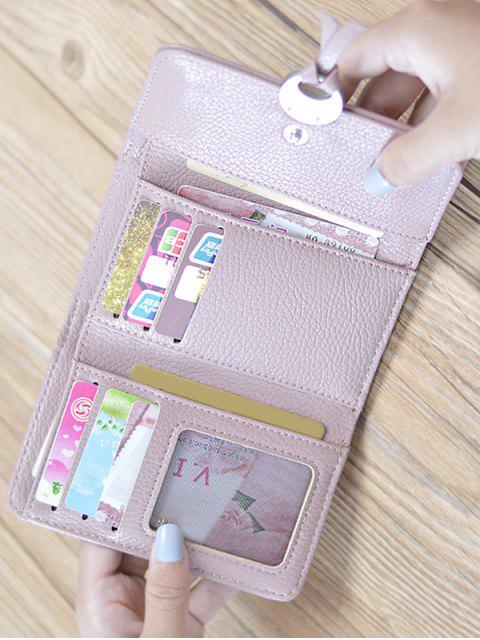fashion Metal Embellished Tri Fold Small Wallet -   Mobile