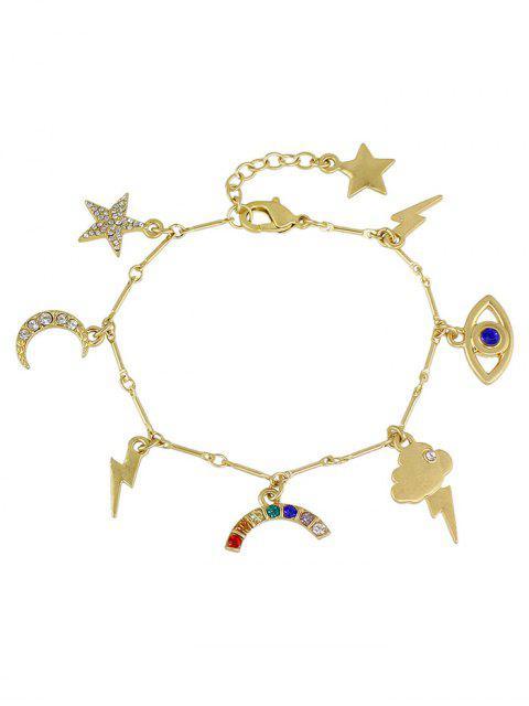 best Rhinestone Star Moon Lightning Eye Bracelet -   Mobile