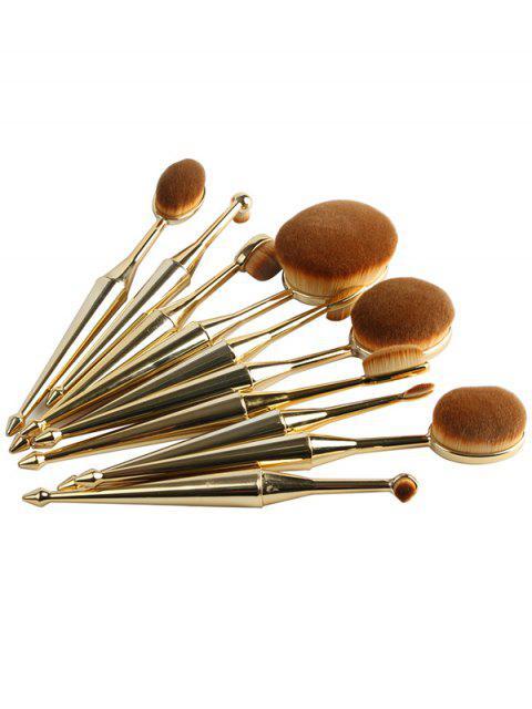 buy Mermaid Shape Makeup Brushes Set -   Mobile