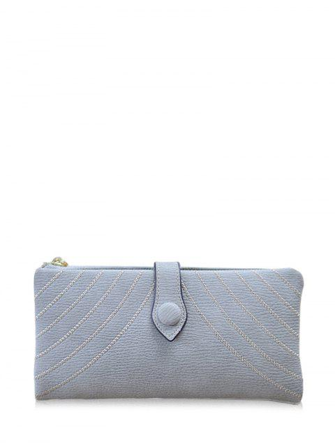 womens Stitching Tassel Clutch Wallet -   Mobile