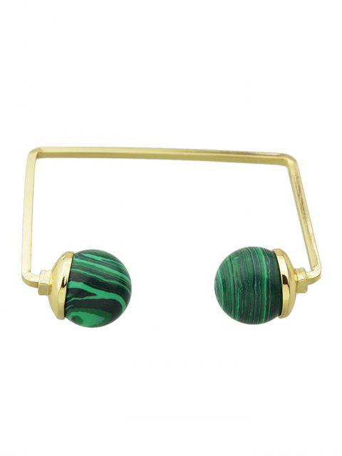 outfit Artificial Gem Ball Cuff Bracelet -   Mobile