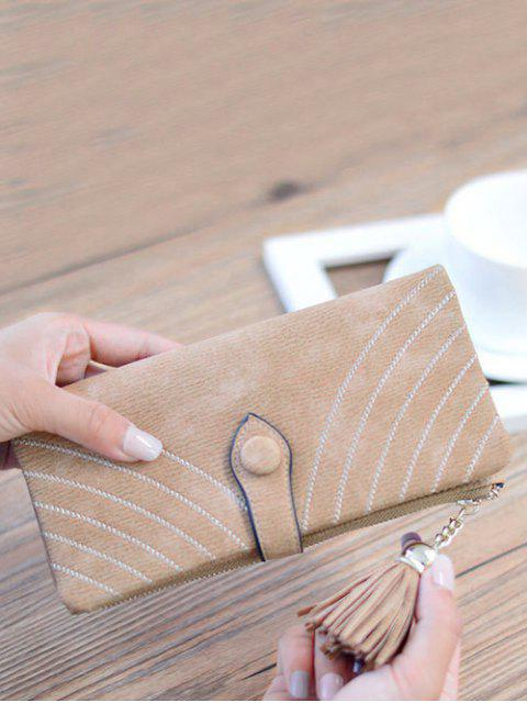 lady Stitching Tassel Clutch Wallet -   Mobile