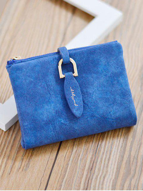 new PU Leather Bi Fold Small Wallet - SAPPHIRE BLUE  Mobile