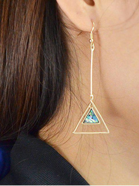 affordable Faux Gem Triangle Vintage Drop Earrings -   Mobile
