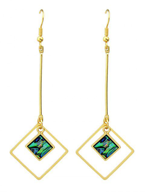 buy Faux Gem Square Vintage Drop Earrings -   Mobile
