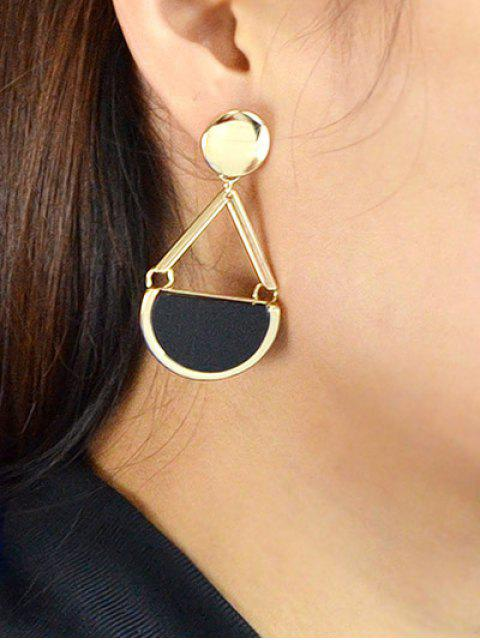 womens Vintage Geometric Circle Drop Earrings - GOLDEN  Mobile