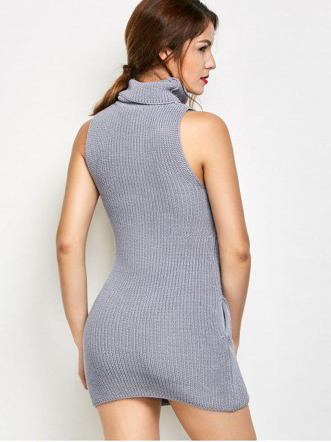 Robe pull sans manches - Gris M Mobile