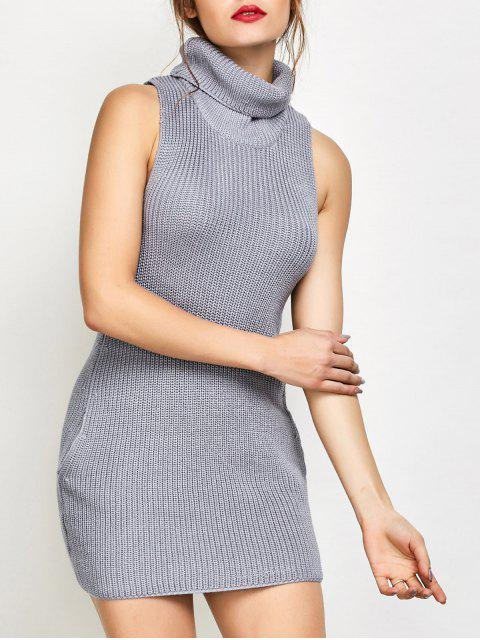 Robe pull sans manches - Gris XL Mobile