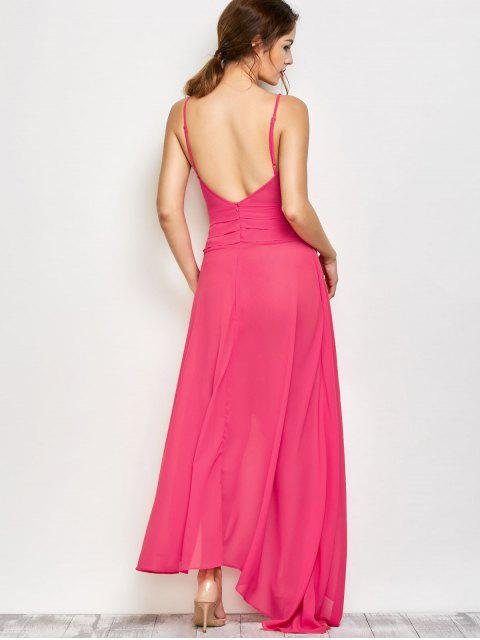 new High Slit Asymmetric Prom Dress - SANGRIA L Mobile
