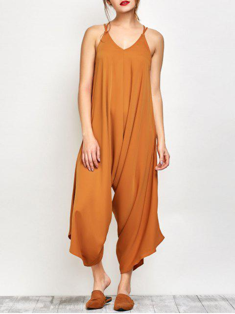 outfit Crosscriss Asymmetric Chiffon Jumpsuit - GINGER S Mobile