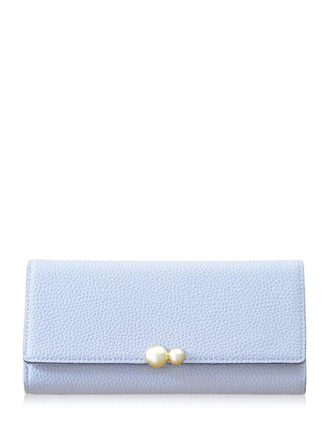 fancy Textured Tri Fold Clutch Wallet -   Mobile