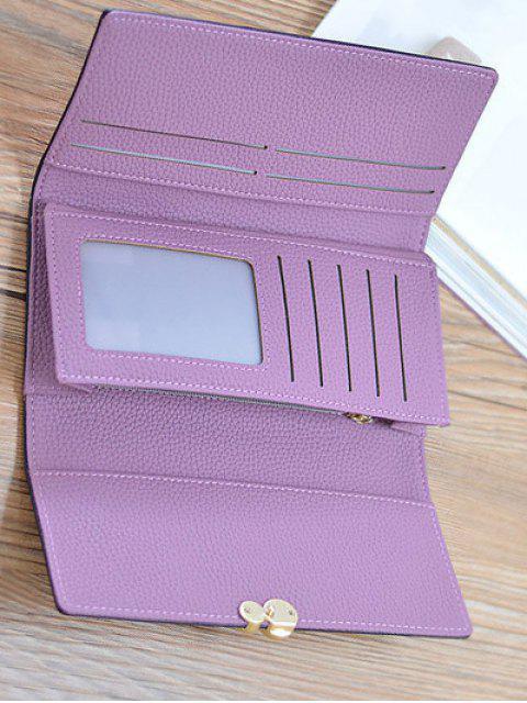 shops Textured Tri Fold Clutch Wallet - LIGHT PURPLE  Mobile