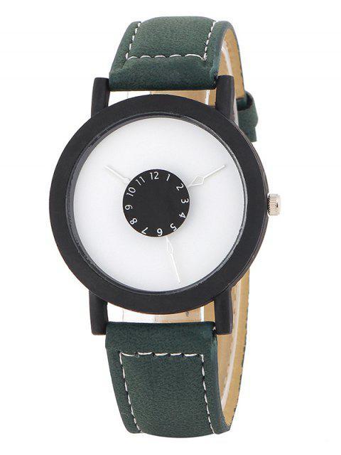shop Faux Leather Band Analog Quartz Watch -   Mobile