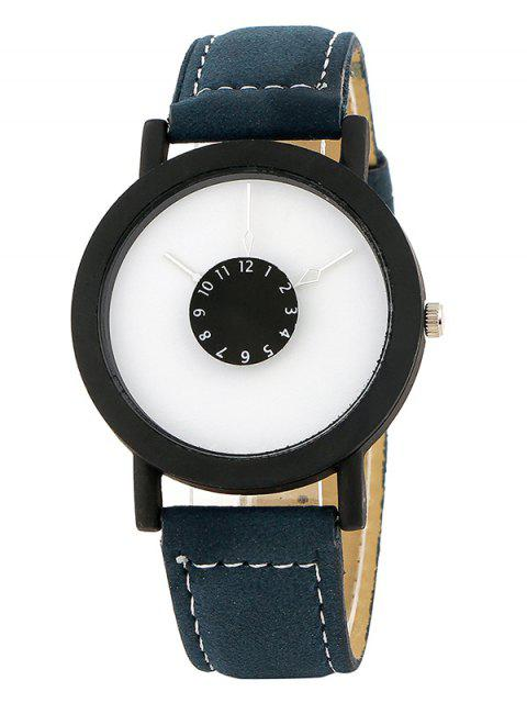 shops Faux Leather Band Analog Quartz Watch -   Mobile