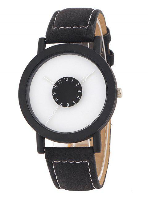 latest Faux Leather Band Analog Quartz Watch -   Mobile