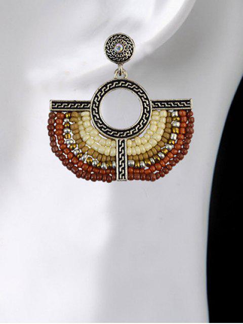 fancy Beads Geometric Vintage Drop Earrings -   Mobile