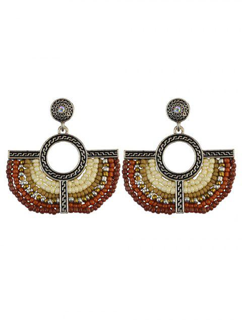 fancy Beads Geometric Vintage Drop Earrings -   Mobile