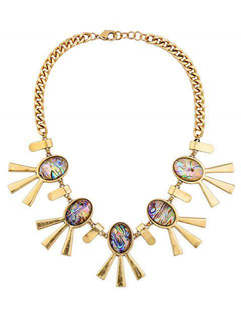 shops Artificial Gem Oval Adorn Vintage Necklace - COLORMIX  Mobile