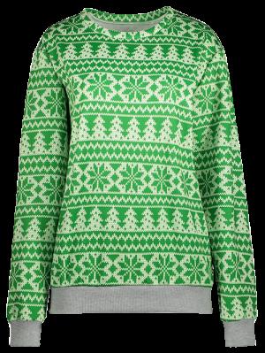 Copo De Nieve Modelado Con Capucha - Verde Xl