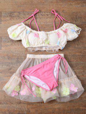 Tul De Tres Piezas Del Bikini - Blancuzco - Blancuzco S