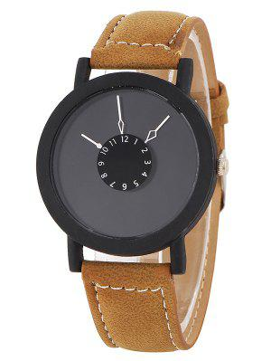 Faux Leather Band Analog Watch