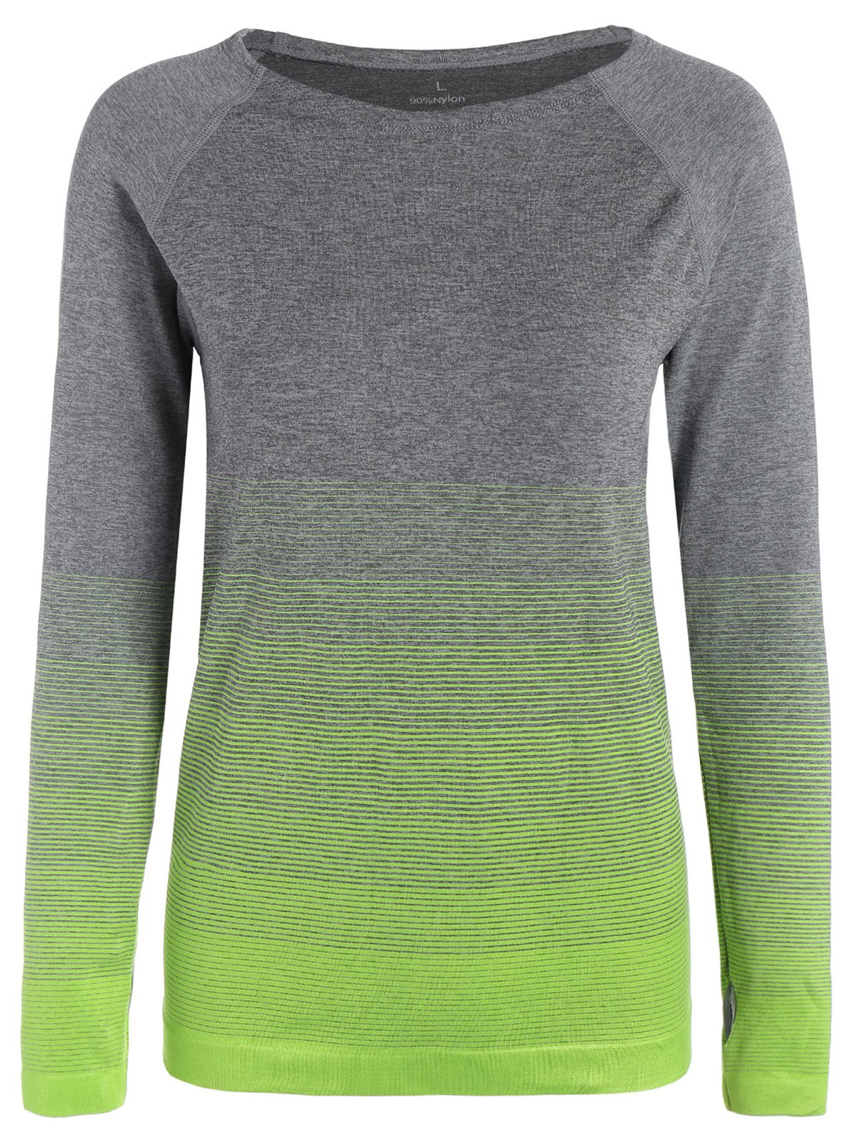 Long Sleeved Ombre Sports Tee