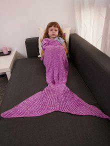 الدفء الكروشيه الحياكة حورية البحر الذيل نمط بطانية للأطفال - روز الفوة