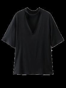 Choker Drop Shoulder T-Shirt - Black M