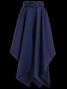 Hanky Hem Maxi Skirt - Deep Blue 2xl