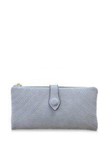 Buy Stitching Tassel Clutch Wallet - GRAY
