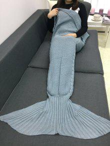 الدفء الكروشيه الحياكة حورية البحر الذيل نمط بطانية - رمادي
