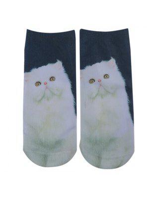 Calcetines del tobillo loco impresos gato persa 3D