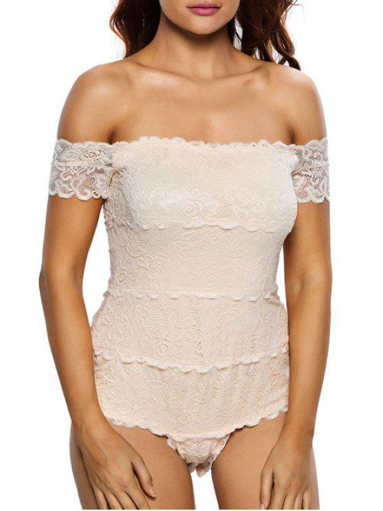 buy Lace Off The Shoulder Bodysuit - OFF-WHITE M