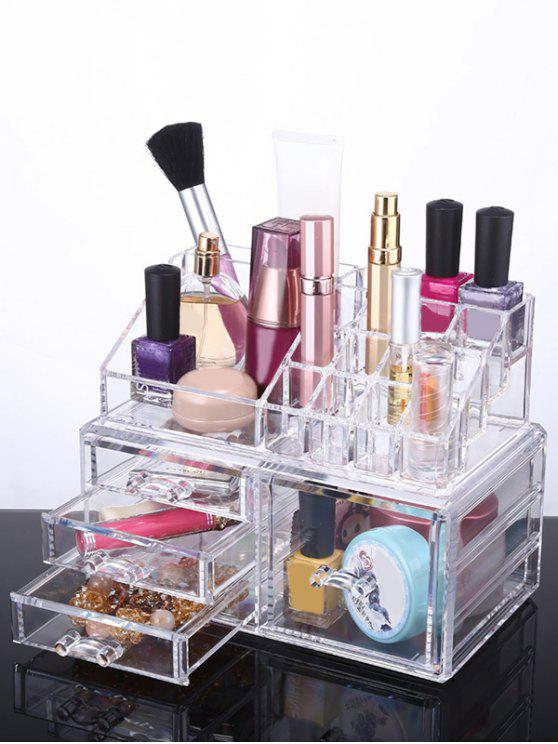 outfit Cosmetic Organizer Jewelry Box - TRANSPARENT