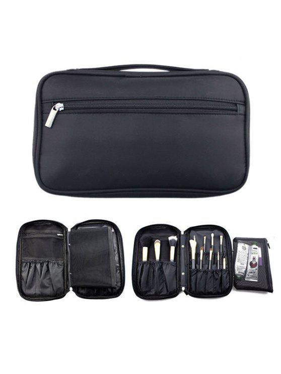 latest Zipper Makeup Storage Bag - BLACK