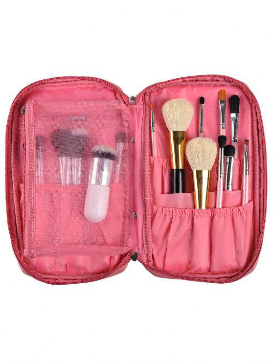Maquillaje de la cremallera bolsa de almacenamiento - Rosa