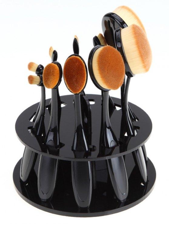 fancy Brush Holder Makeup Brush Stand - BLACK