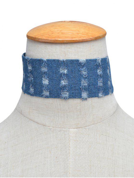Denim Collar Gargantilla apenada - Azul