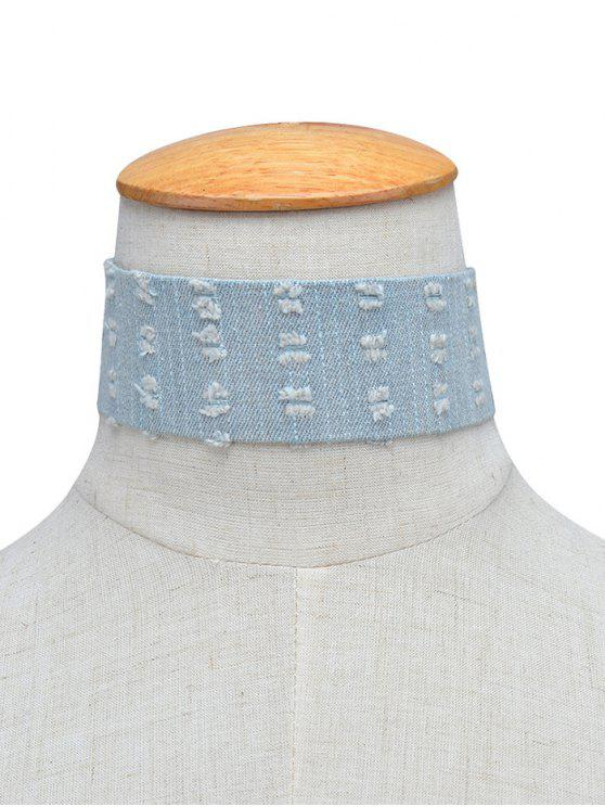 Denim Collar Gargantilla apenada - Azul Claro