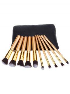 10 Pcs Makeup Brushes Kit - Black